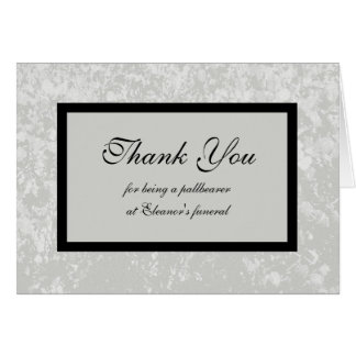 Pallbearer Thank You Card in Classic Grey