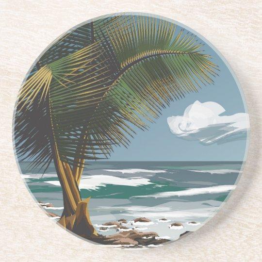 Palm and Beach Coaster