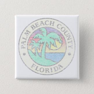Palm Beach County 2 Inch Square Button