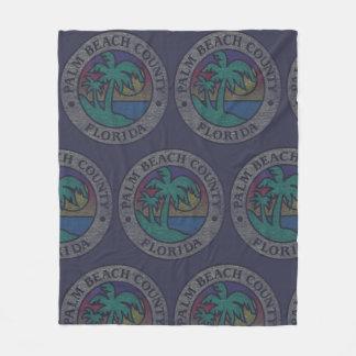 Palm Beach County Fleece Blanket