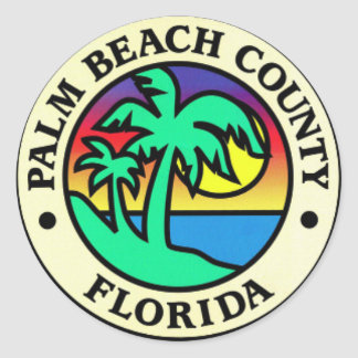 Palm Beach County Florida Stickers
