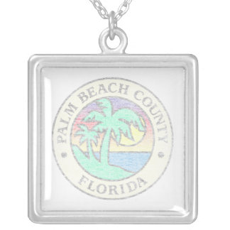 Palm Beach County Silver Plated Necklace