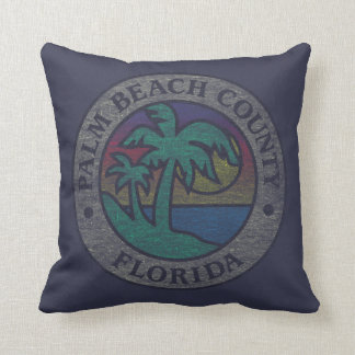 Palm Beach County Throw Pillow