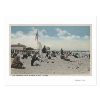 Palm Beach, FL - The Swimming Hour Postcard