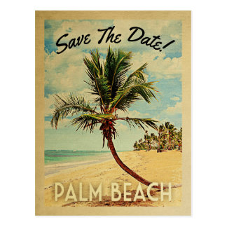Palm Beach Florida Save The Date Vintage Postcard
