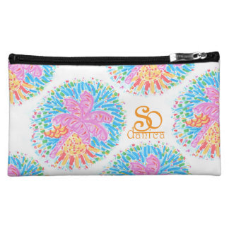 Palm Beach Pink Banana Tree Make up bag Cosmetics Bags
