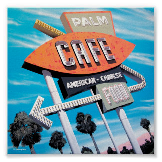 Palm Cafe on Route 66 Poster