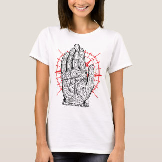 Palm & Compass Vintage sketch-light shirt design