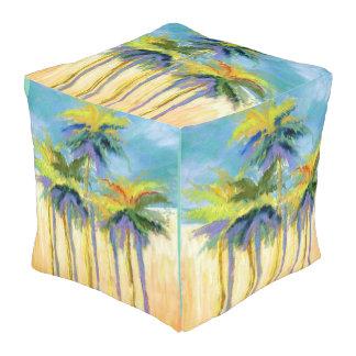 Palm Cube Pouf