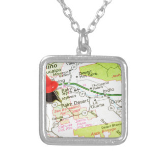 Palm Desert, California Silver Plated Necklace