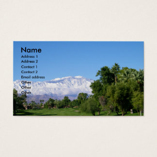 Palm Desert Mountain View Business Business Card
