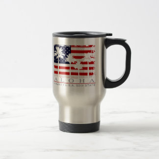 Palm Flag Hawaii 50th State Travel Mug