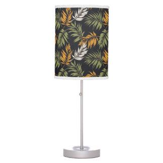Palm Fonds Fall Style Pattern Table Lamp