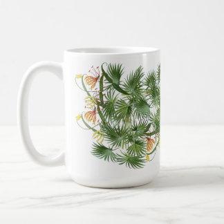 Palm Frond Leaves Glory Lily Flowers Mug
