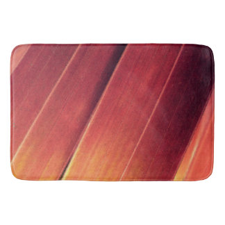 Palm Fronds in Rust and Gold Bath Mat