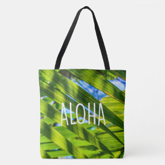 Palm Fronds, Kauai, Aloha Hawaiian Beach Bag