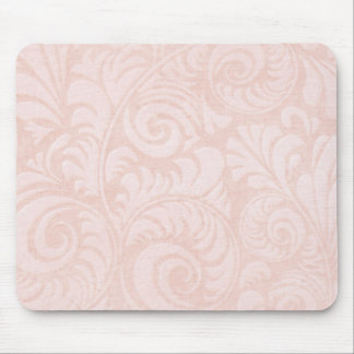 Palm Fronds Mousemat in Salmon Pink Mouse Pad