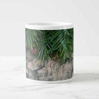 Palm fronds over rocks neat garden photo extra large mug