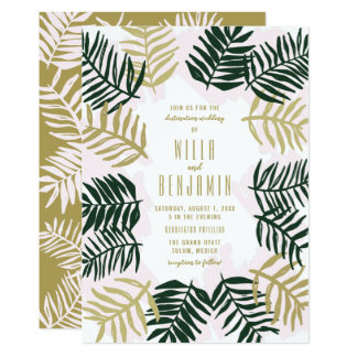 Palm Getaway Destination Wedding Invitation