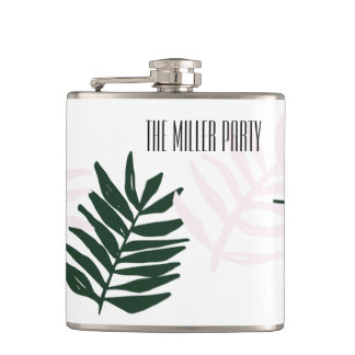 Palm Getaway Personalizable Flask