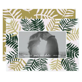 Palm Getaway Save the Date Card
