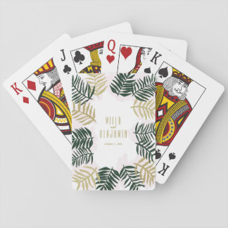 Palm Getaway Wedding Playing Cards
