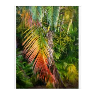 """Palm Glow 2 Acrylic Wall Art, 16"""" x 20"""" Acrylic Print"""