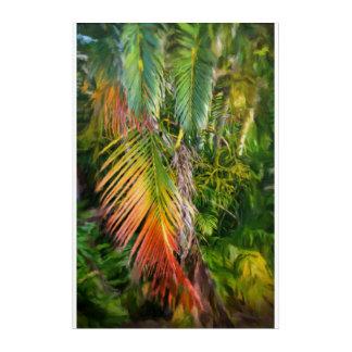 """Palm Glow 2 Acrylic Wall Art, 20"""" x 30"""" Acrylic Print"""
