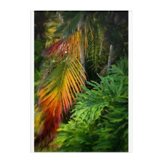 "Palm Glow Acrylic Wall Art, 10"" x 14"" Acrylic Wall Art"
