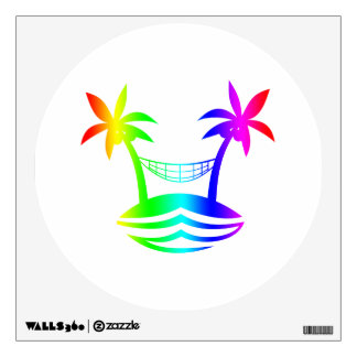 palm hammock beach smile rainbow.png wall decal