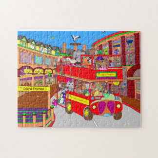 Palm Island Party Bus Jigsaw Puzzle