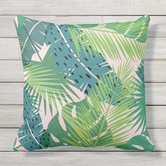 Palm Leaf Pattern throw pillows