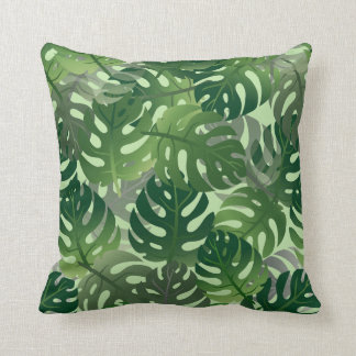 Palm Leaf Tropical Pattern Throw Pillow