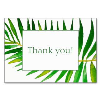 Palm leave wedding invitation thank you card