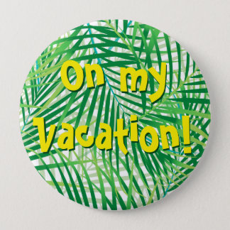 Palm leaves 4 inch round button