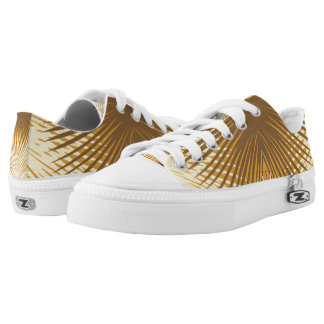 Palm Leaves Abstract Gold Palm Shoes
