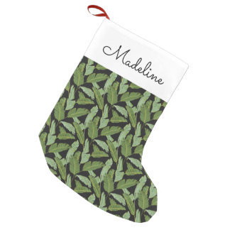 Palm Leaves | Add Your Name Small Christmas Stocking