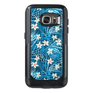Palm Leaves Blue Pattern OtterBox Samsung Galaxy S7 Case
