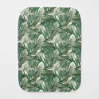 Palm leaves burp cloth