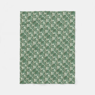 Palm leaves fleece blanket