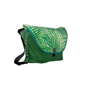 Palm leaves messenger bags