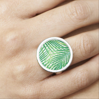 Palm leaves photo rings