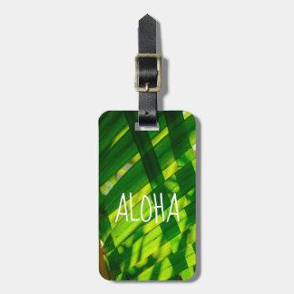 Palm Leaves Plaid, Kapaa, Kauai, Hawaii - Aloha Luggage Tag