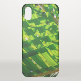 Palm Leaves Plaid, Kapaa, Kauai, Hawaii Wetsuit iPhone X Case