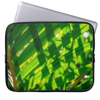 Palm Leaves Plaid, Kapaa, Kauai, Hawaii Wetsuit Laptop Sleeve