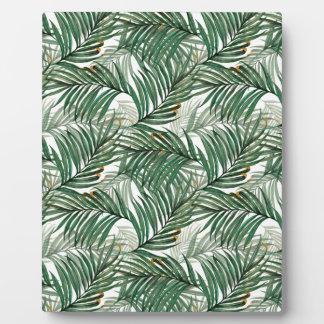 Palm leaves plaque