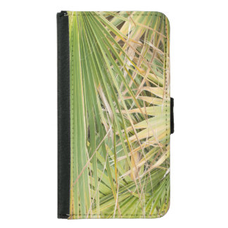 Palm leaves samsung galaxy s5 wallet case