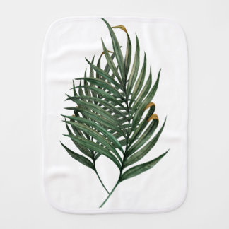 Palm leaves t-shirt burp cloth