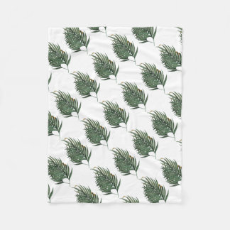 Palm leaves t-shirt fleece blanket
