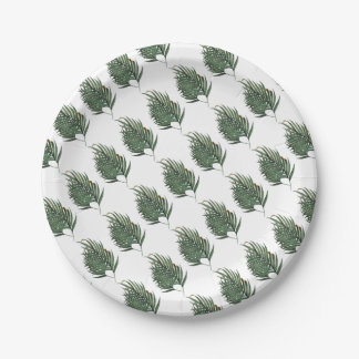 Palm leaves t-shirt paper plate